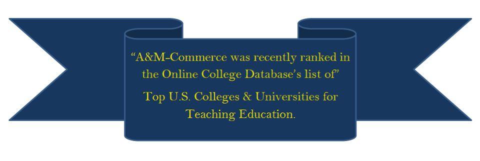 Texas A Amp M University Commerce Curriculum Amp Instruction