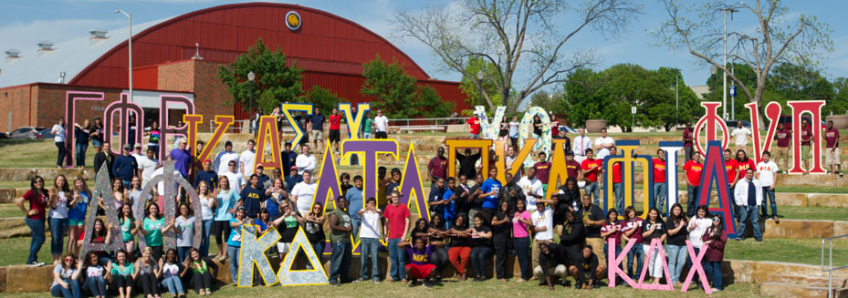 Group shot of all Greek Organizations, 2013