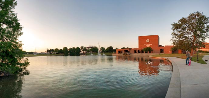 Gee lake and the Performing Arts Center