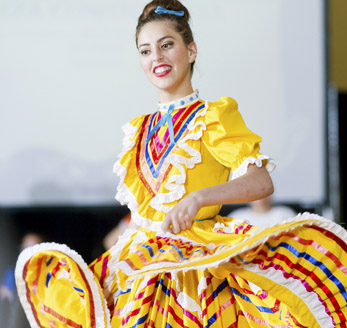 Traditional Hispanic Dancer