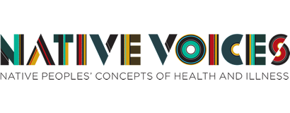 Native Voices: Native People's Concepts of Health and Illness traveling display logo